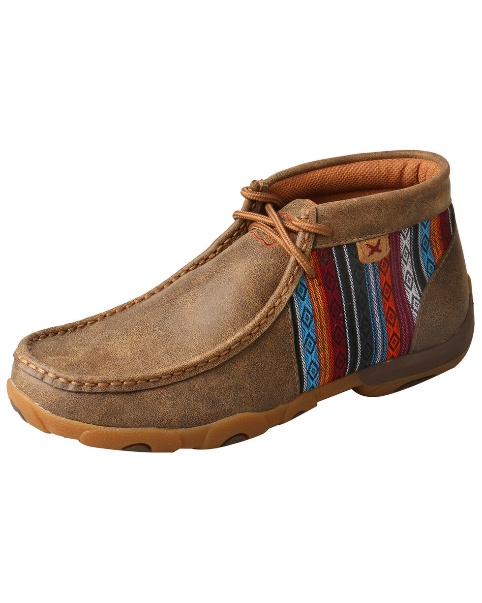 Twisted X Women's Bomber Moccasins - Moc Toe, Brown, hi-res