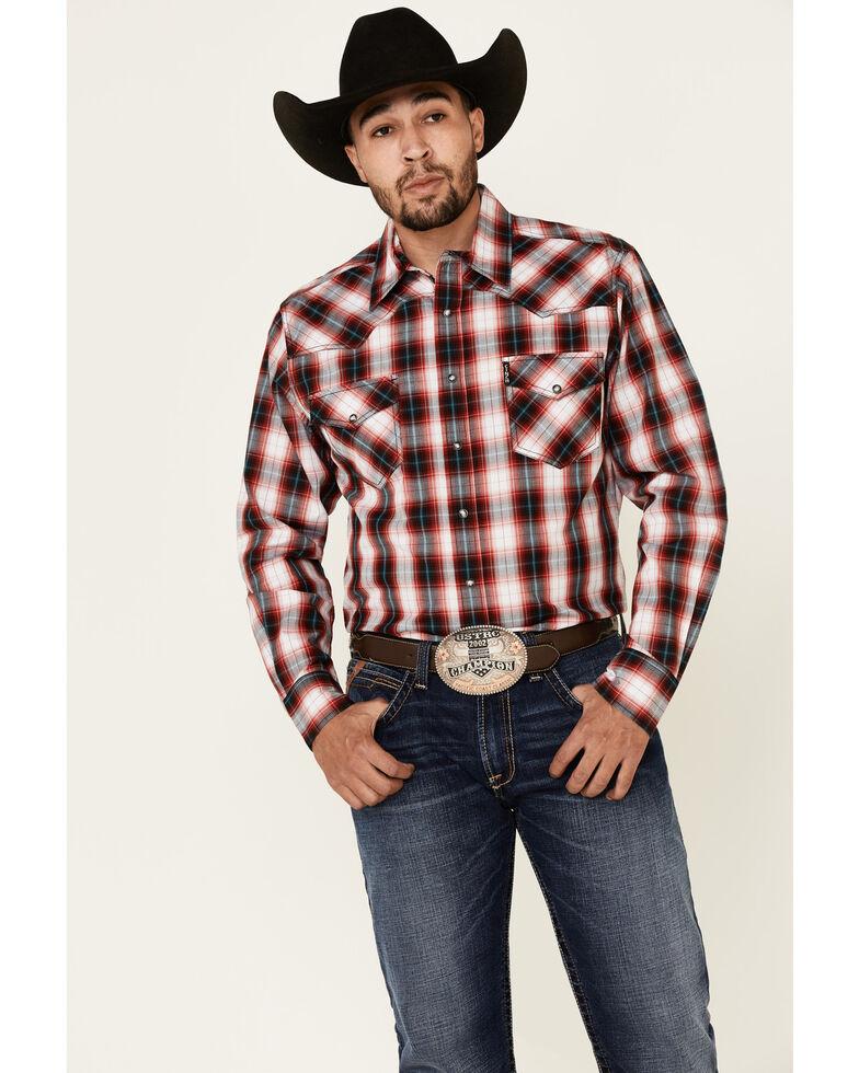 Cinch Men's Modern Fit Multi Plaid Long Sleeve Western Shirt , Multi, hi-res