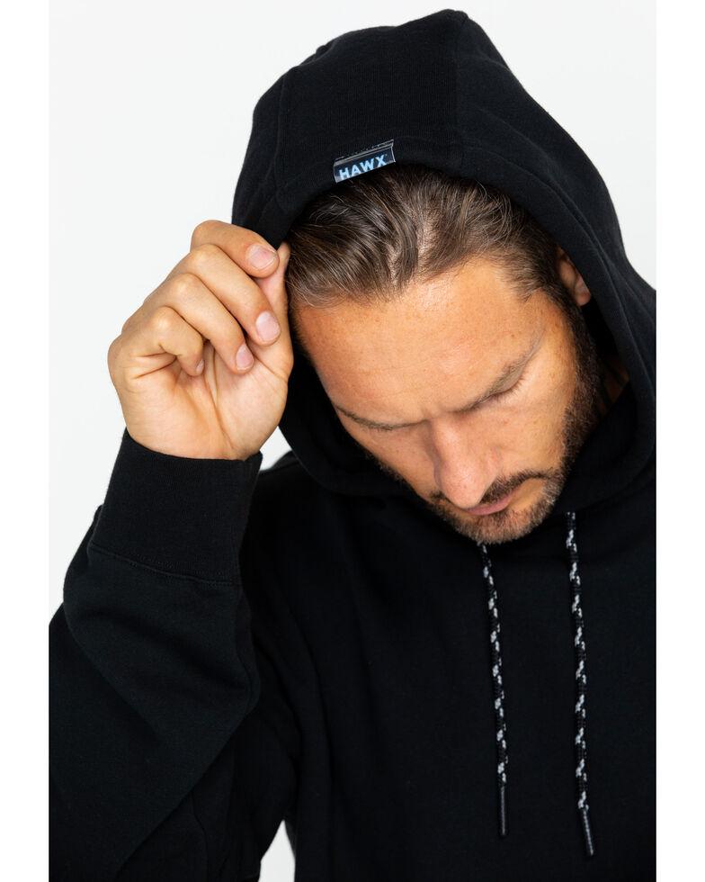 Hawx Men's Logo Sleeve Hooded Work Sweatshirt , Black, hi-res