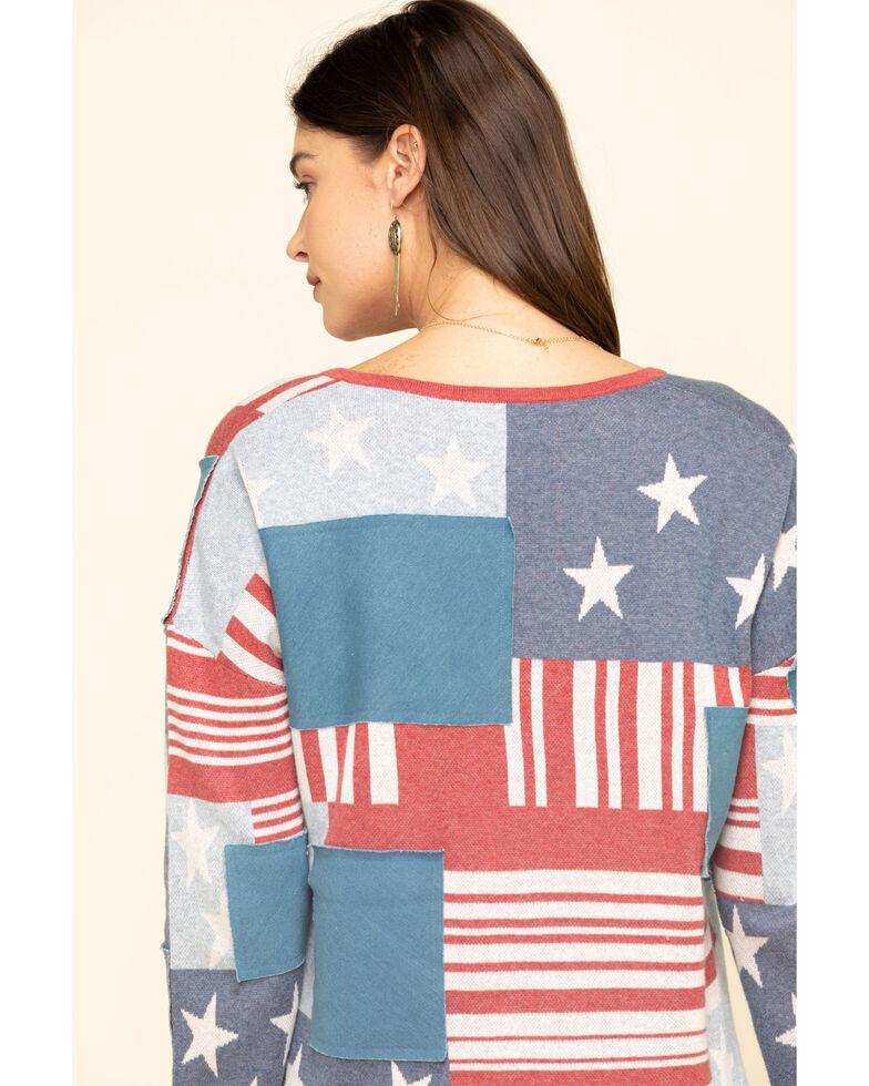 Tasha Polizzi Women's Flag Patch Pullover, Multi, hi-res