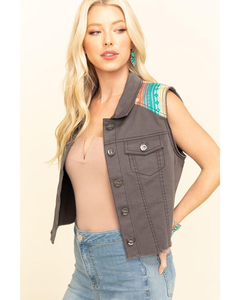 Ariat Women's June Trucker Vest , Grey, hi-res