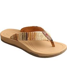 Twisted X Women's Woven Thong Sandal, Multi, hi-res
