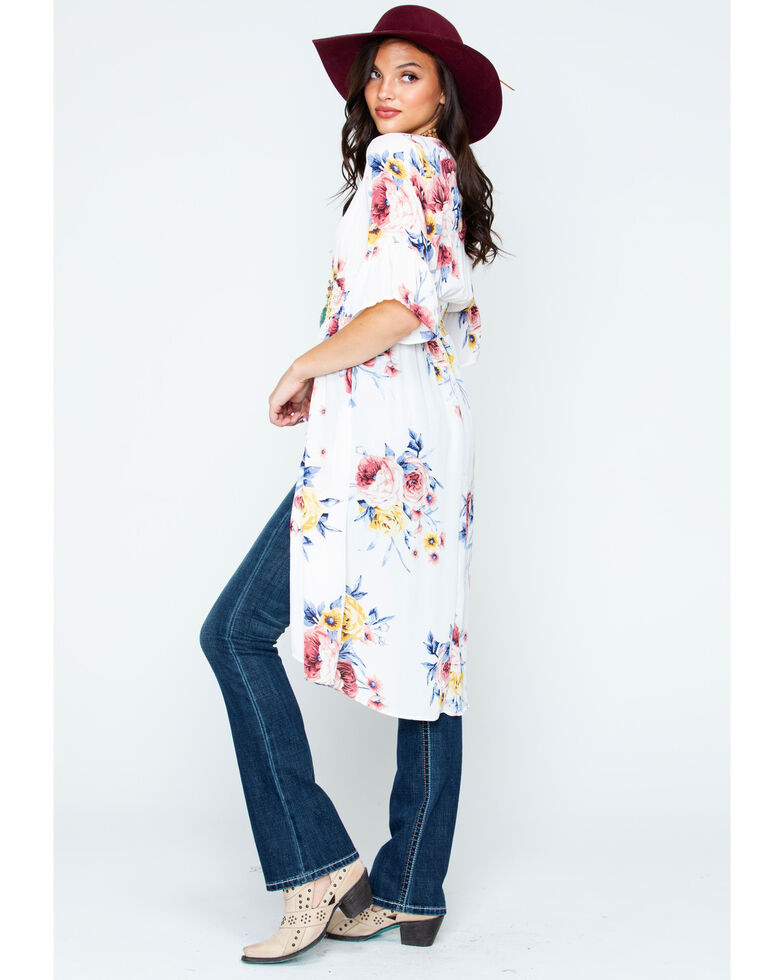 Wrangler Women's Floral Print Button Front Duster , , hi-res