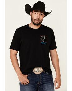 Ariat Men's Black Linear Box Graphic T-Shirt , Black, hi-res