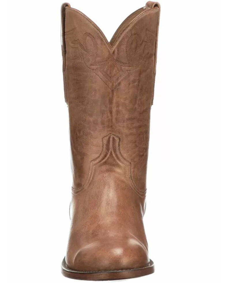 Lucchese Men's Sunset Roper Western Boots - Round Toe, Honey, hi-res