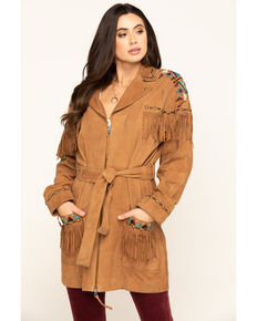 Double D Ranch Women's Tumbleweed Guarache Jacket, Tan, hi-res