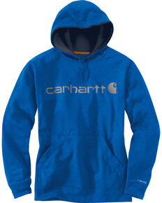 Carhartt Men's Dark Blue Force Extremes™ Signature Graphic Hooded Sweatshirt, Dark Blue, hi-res