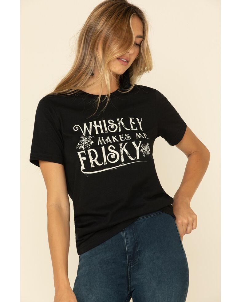 Ali Dee Women's Whiskey Makes Me Friskey Graphic Tee , Black, hi-res