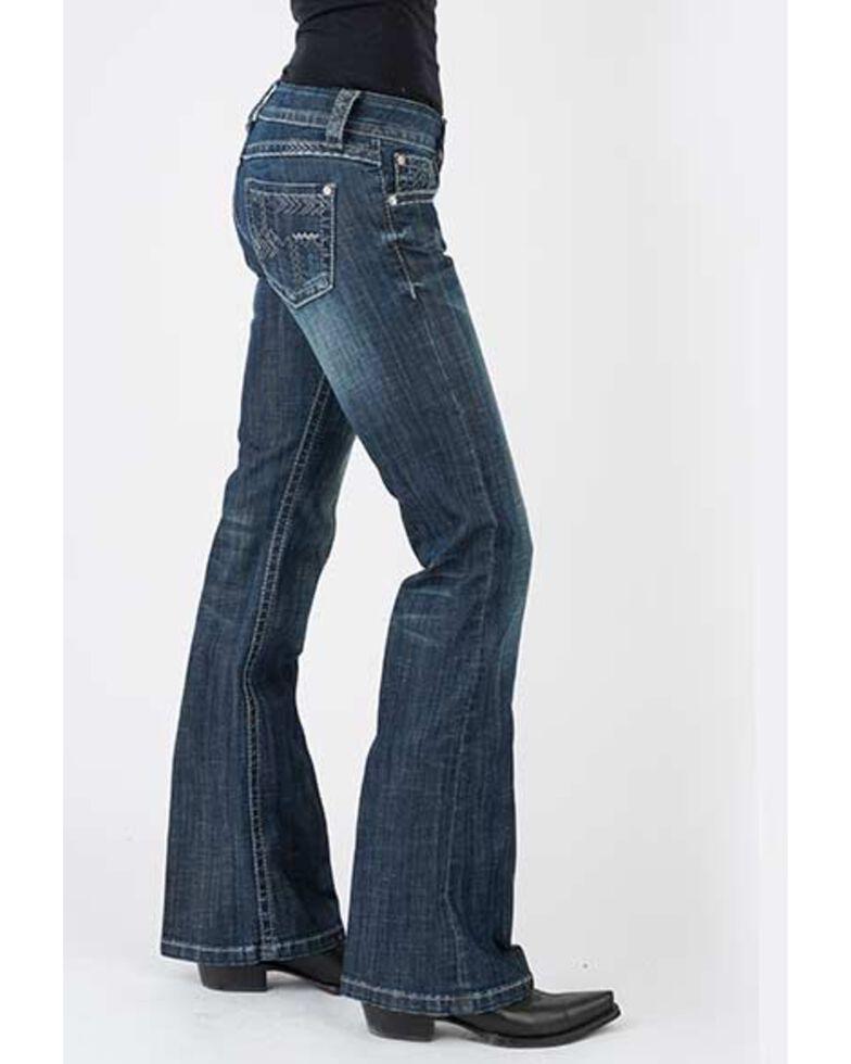 Stetson Women's 816 Dark Wash Deco Bootcut Jeans , Blue, hi-res