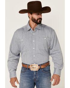 Double R By Resistol Men's Solid Grey Rawlins Long Sleeve Snap Western Shirt , Grey, hi-res