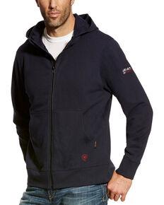 Ariat Men's FR Full Zip Hoodie, Navy, hi-res