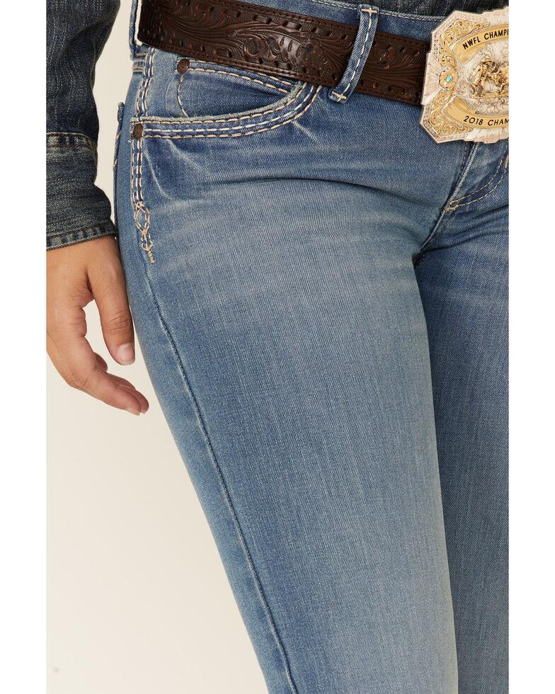 Wrangler Women's Sadie Cross Stitch Bootcut Jeans, Blue, hi-res