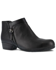 Rockport Women's Black Carly Work Booties - Alloy Toe, Black, hi-res