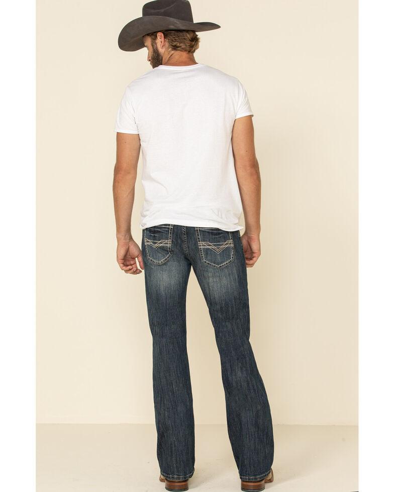 Rock & Roll Denim Men's Pistol Dark Reflex Stretch Bootcut Jeans , Indigo, hi-res