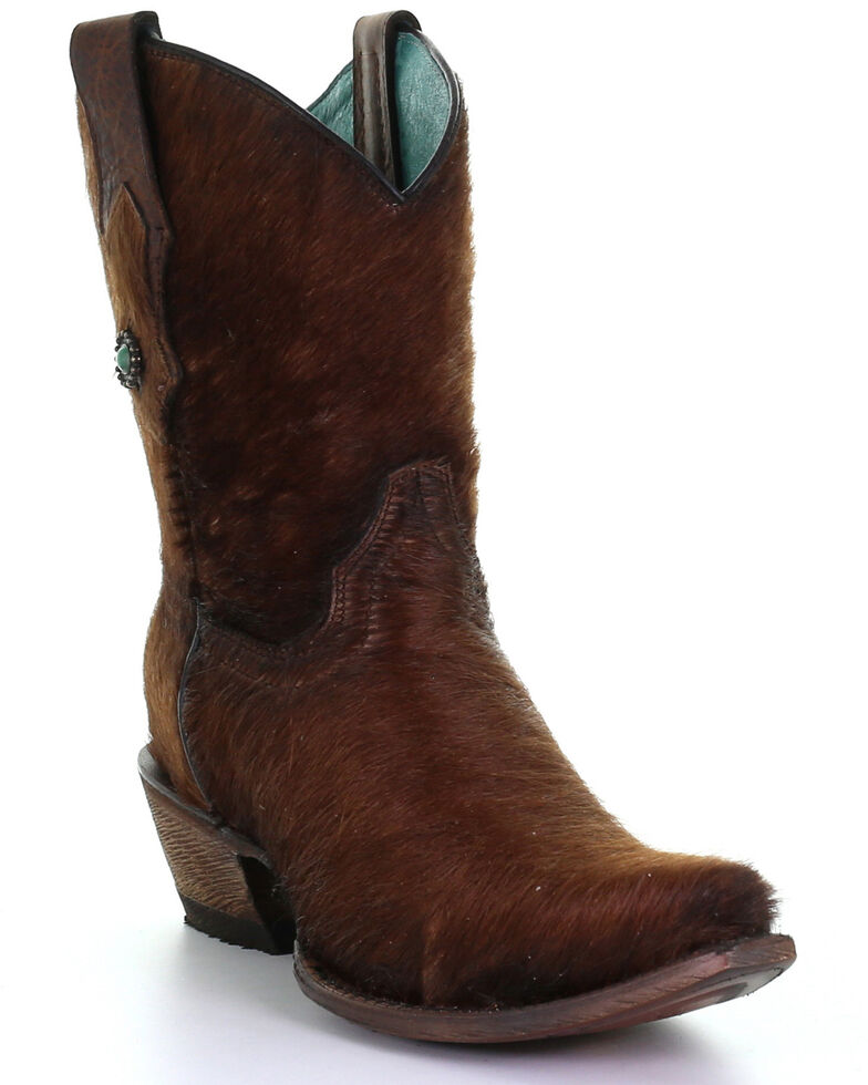Corral Women's Brown Conchos Western Boots - Snip Toe, Brown, hi-res