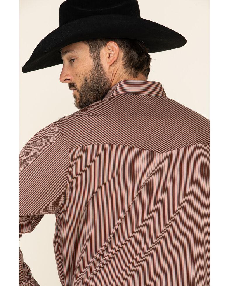 Resistol Men's Red Millet Striped Long Sleeve Western Shirt , Red, hi-res