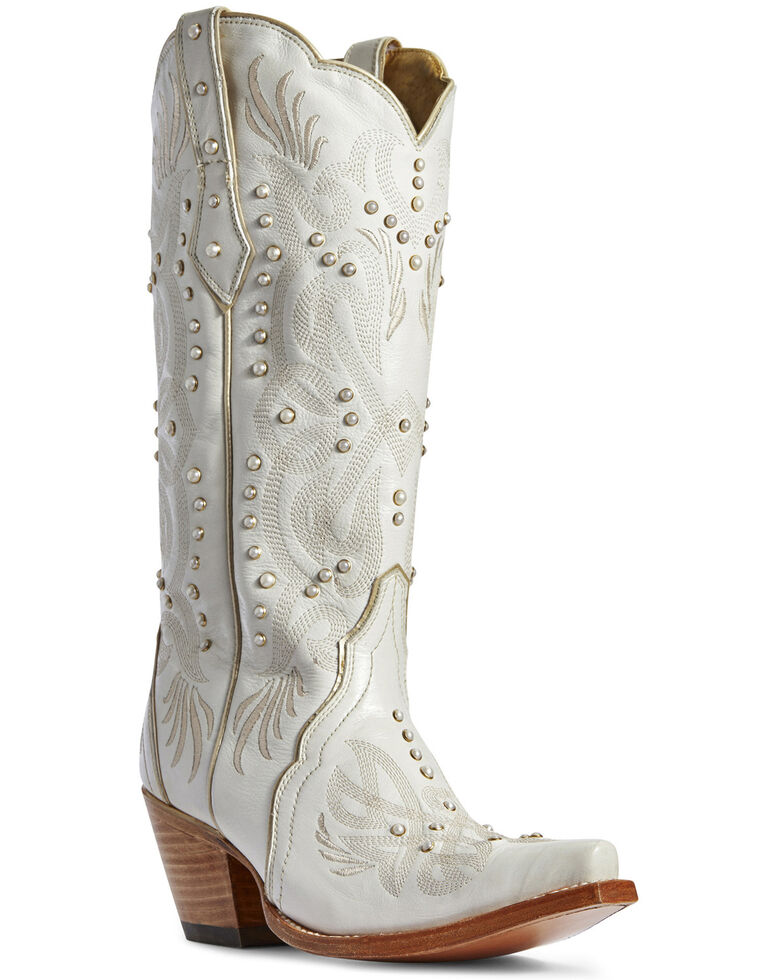 Ariat Women's Pearl Snow White Western Boots - Snip Toe, White, hi-res