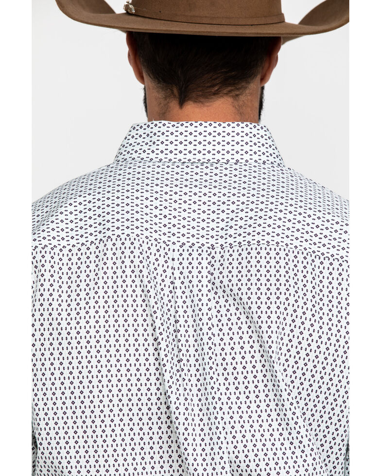 Cinch Men's Multi Detailed Geo Print Button Long Sleeve Western Shirt , Multi, hi-res