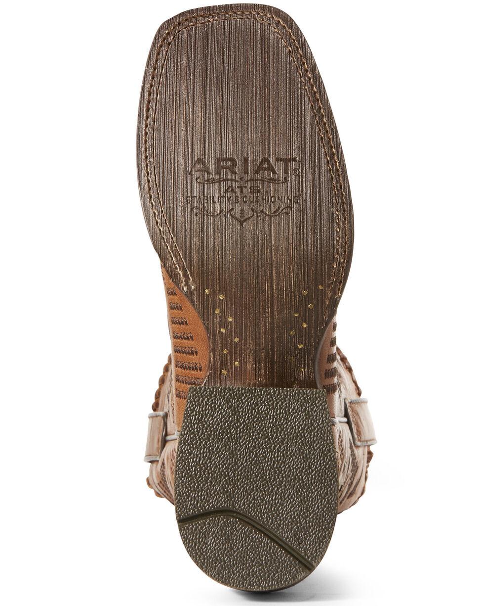 Ariat Women's Gitana Aztec Western Boots - Wide Square Toe, Brown, hi-res