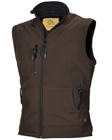 STS Ranchwear Men's Brown Barrier Vest, Brown, hi-res