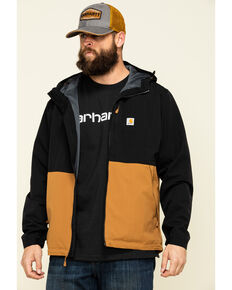 Carhartt Men's Faded Black M Storm Defender Midweight Hooded Work Jacket , Black, hi-res