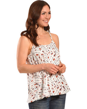 Jody of California Women's Arrows Tank, Cream, hi-res