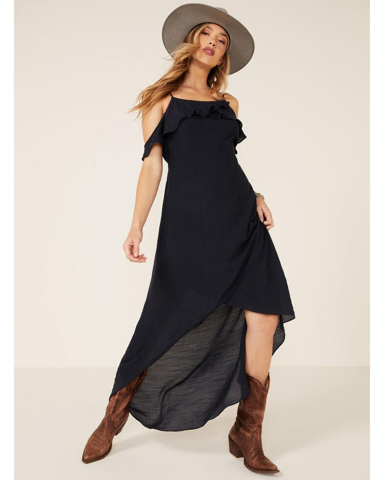 Wishlist Women's Off-Shoulder Maxi Dress, Navy, hi-res
