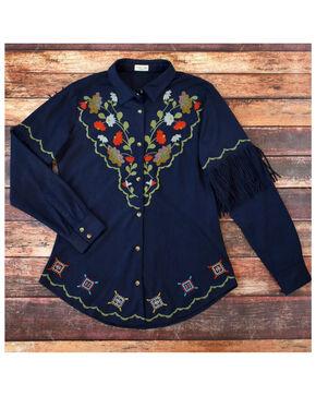 Tasha Polizzi Women's Sophia Shirt , Indigo, hi-res