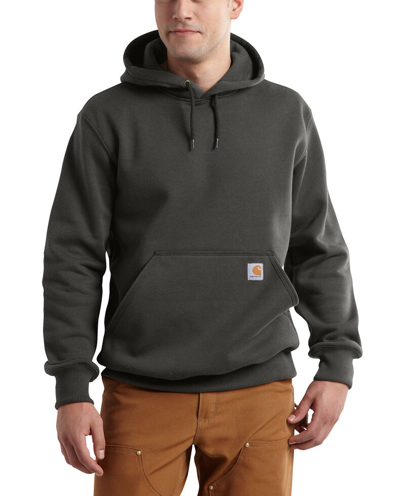 Carhartt Men's Rain Defender Paxton Heavyweight Hooded Work Sweatshirt, Bark, hi-res