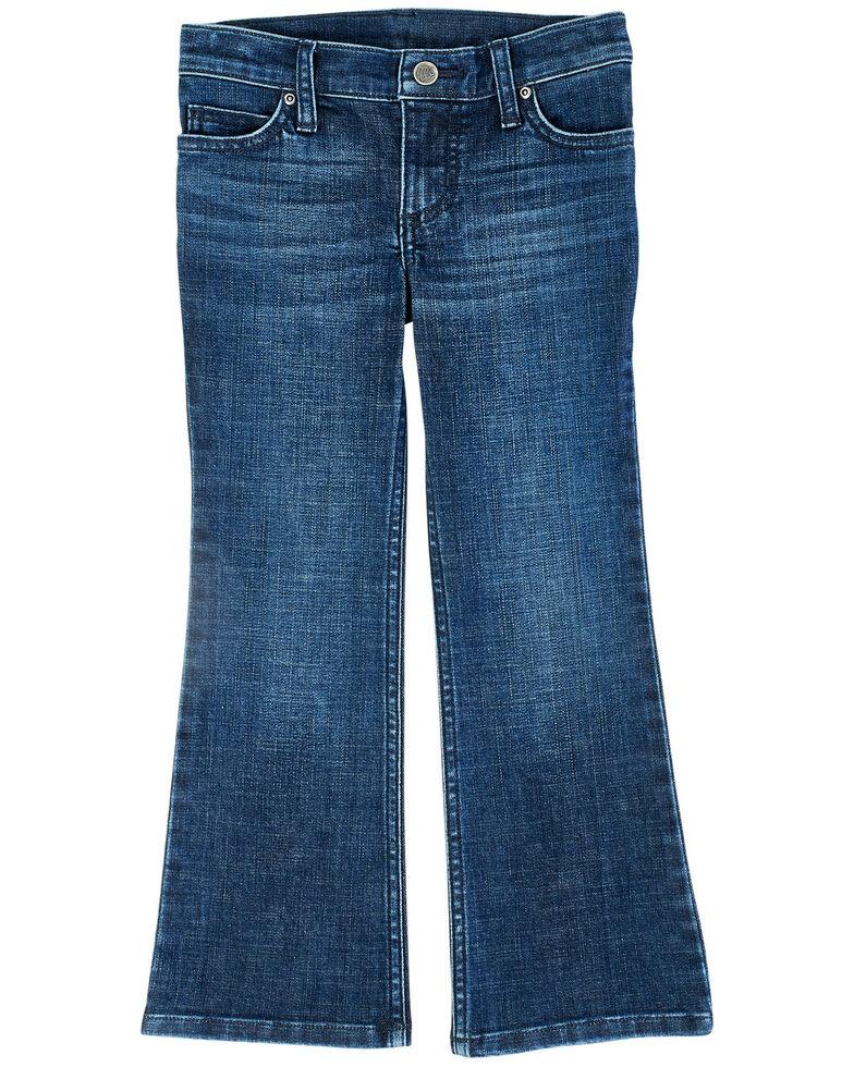 Wrangler Girls' Medium Wash Zoe Bootcut Jeans, Blue, hi-res
