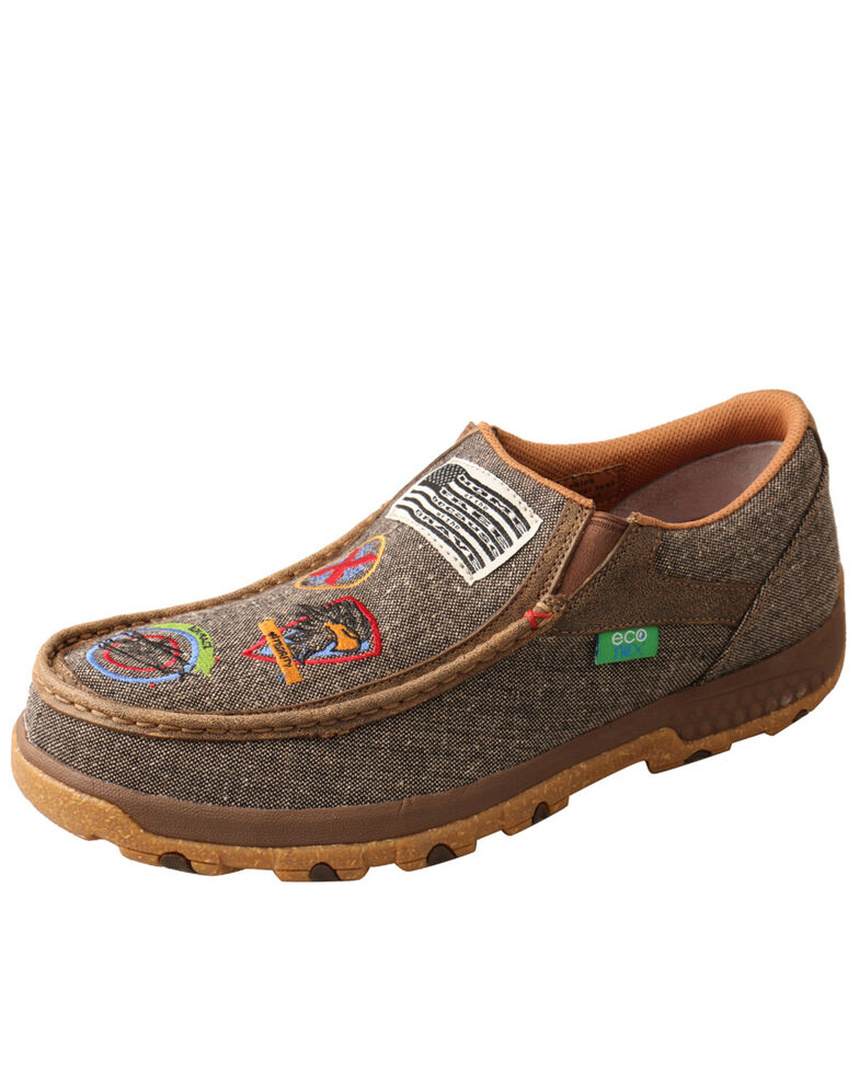 Twisted X Men's Casual Cellstretch Shoes - Moc Toe, Lt Brown, hi-res