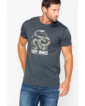 Cody James Men's Once Tried Always Worn Rattler T-Shirt , Heather Grey, hi-res
