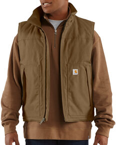 Carhartt Quick Duck Jefferson Vest - Big & Tall, Brown, hi-res