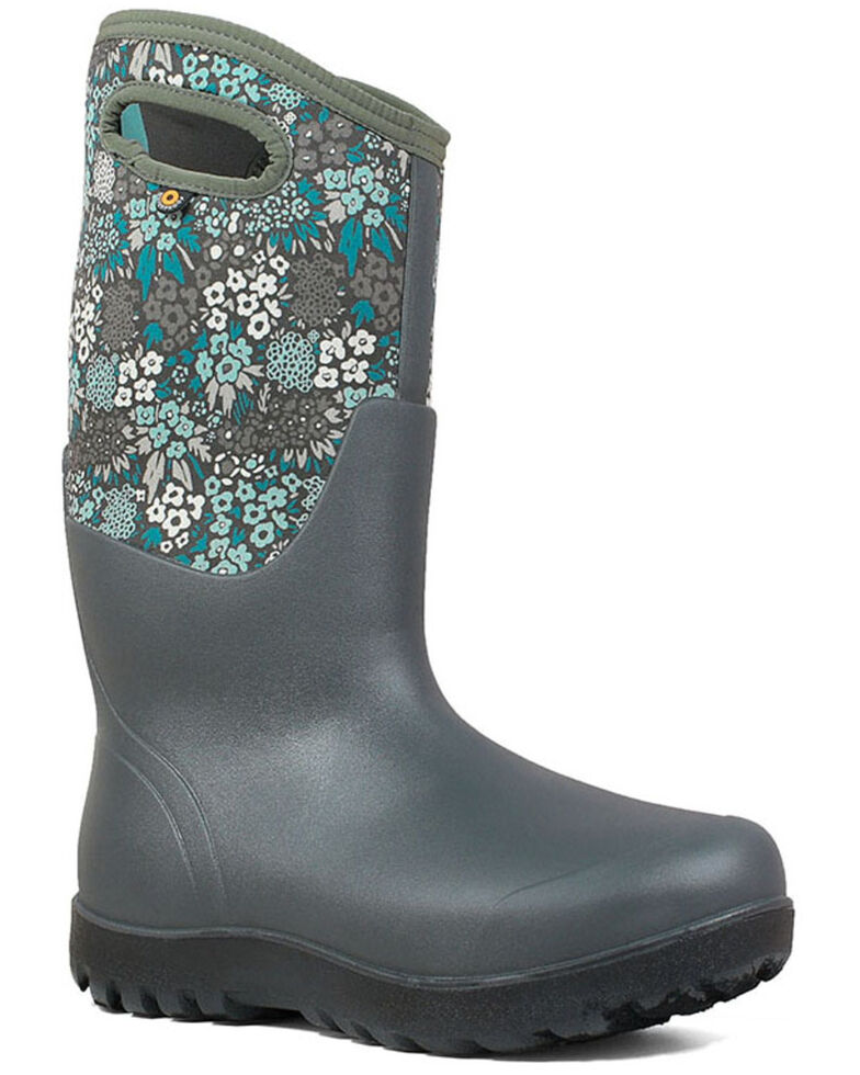 Bogs Women's Grey Classic Tall Winter Boots - Round Toe, Grey, hi-res
