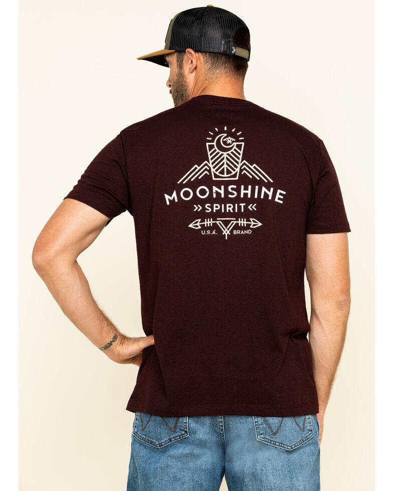 Moonshine Spirit Men's Mountain Graphic Short Sleeve T-Shirt , Burgundy, hi-res