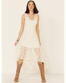 Shyanne Women's Lace Maxi Dress, Ivory, hi-res