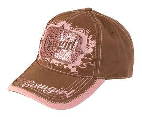 2fb4d42ef9573 Blazin Roxx Brown   Pink Metallic Cowgirl Cap