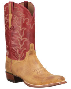Lucchese Men's Butterscotch Western Boots - Square Toe, Tan, hi-res