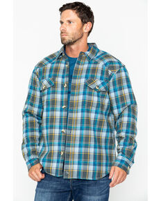 Cody James Men's Buckhorn Bonded Flannel Long Sleeve Western Shirt Jacket , Grey, hi-res