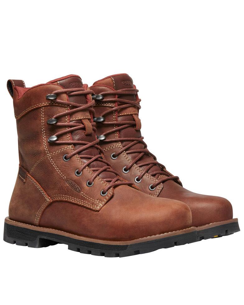 Keen Women's Seattle Waterproof Work Boots - Aluminum Toe, Brown, hi-res