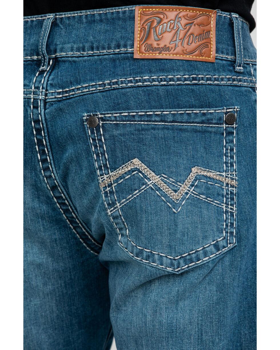 Rock 47 By Wrangler Men's Voice Medium Slim Boot Jeans , Blue, hi-res