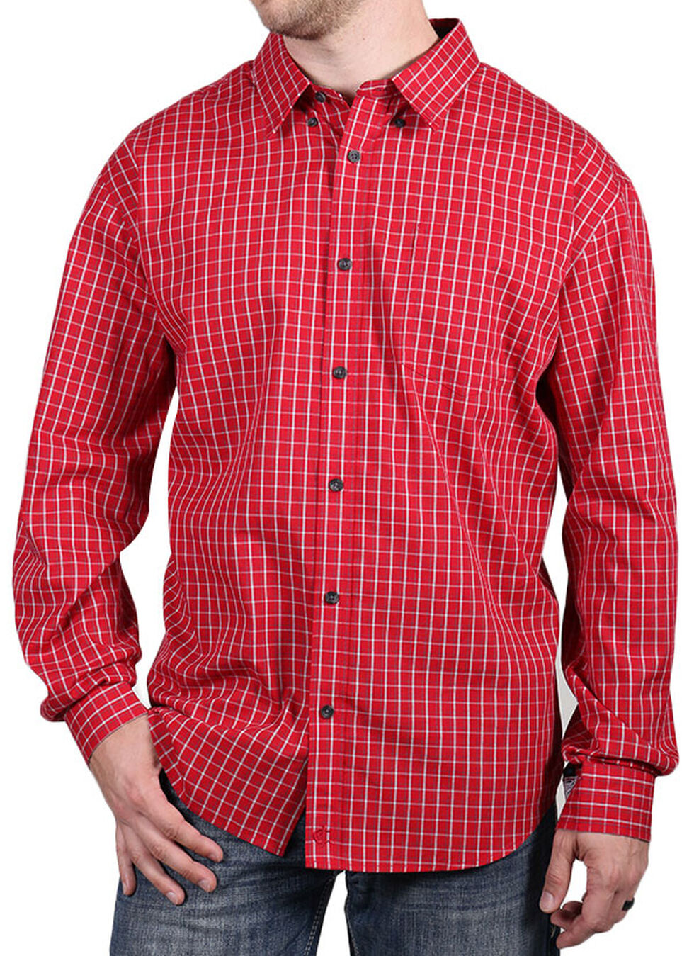 Cody James Core Men's Red Checkered Print Shirt, , hi-res