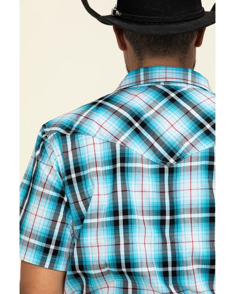 Cody James Men's Firefly Large Plaid Short Sleeve Western Shirt - Tall , Blue, hi-res