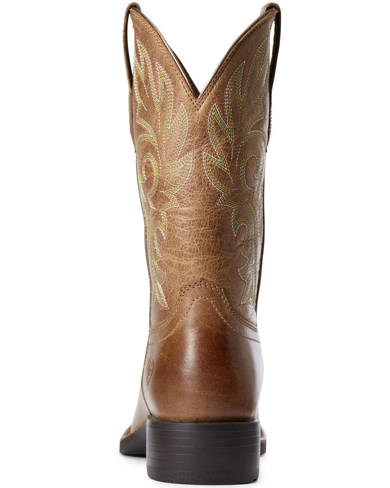 Ariat Women's Cattle Drive Western Boots - Square Toe, Brown, hi-res