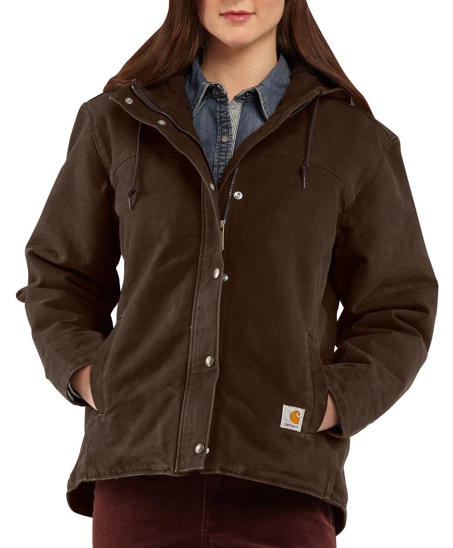 Carhartt Women's Sandstone Berkley Jacket, Dark Brown, hi-res
