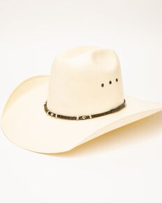Rodeo King Men's Quenten Straw Hat, Natural, hi-res