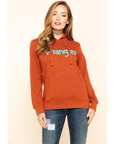Wrangler Women's Rust Logo Hoodie Sweatshirt, Rust Copper, hi-res