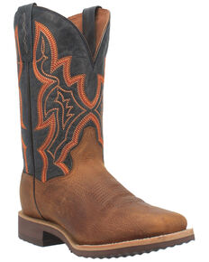 Dan Post Men's Draven Western Boots - Wide Square Toe, Brown, hi-res