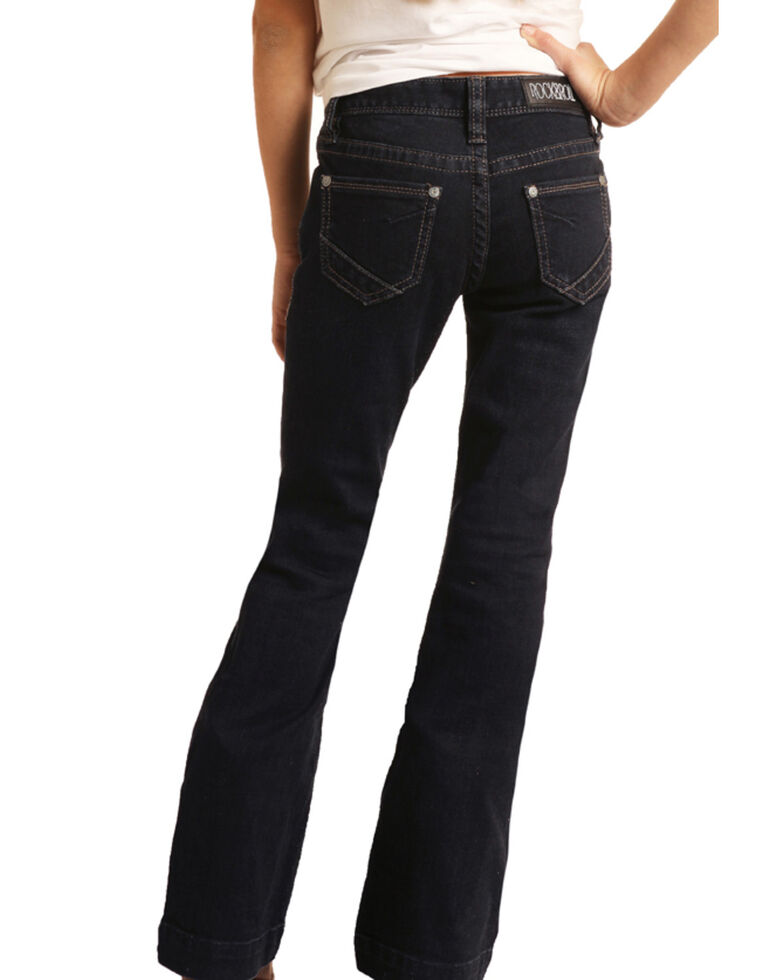 Rock & Roll Cowgirl Girls' Basic Trouser Jeans, Blue, hi-res