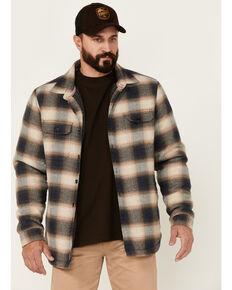 Flag & Anthem Men's Tan Denver Sherpa-Lined Flaneel Button-Down Shirt Jacket , Tan, hi-res